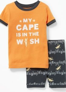 Superhero Cape is in Wash Boys Sleep Set Pj